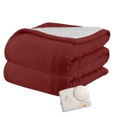 Shop for Pure Warmth by Biddeford MicroPlush Sherpa Electric Heated Blanket Twin Claret. Get free delivery On EVERYTHING* Overstock - Your Online Fashion Bedding Store! Get in rewards with Club O! Full Size Blanket, King Size Blanket, Heated Throw Blanket, Most Comfortable Sheets, Affordable Bedding, Warm Blankets, How To Get Warm, Fashion Room