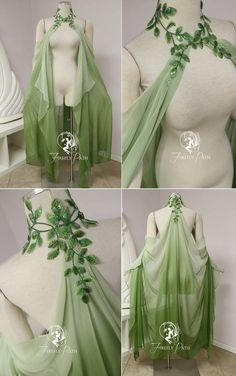 Leaf Cape by Firefly-Path on DeviantArtYou can find Fairy dress and more on our website.Leaf Cape by Firefly-Path on DeviantArt Pretty Outfits, Pretty Dresses, Beautiful Dresses, Cool Outfits, Fantasy Costumes, Fairy Costumes, Faerie Costume, Elven Costume, Poison Ivy Costumes
