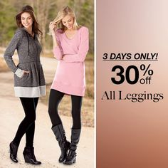 """Because the finest legs don't fit in standard-sized leggings!  36"""" to 39"""" inseams available (offer ends 9/30, so don't miss out!) #leggings #discount #tallgirls http://www.longelegantlegs.com/clothing/tall-leggings"""