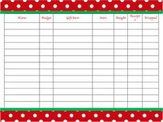 Christmas Gift Organization Printable #Christmas #printable #gifts