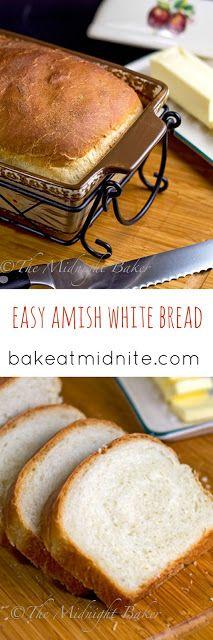 Amish White Bread | bakeatmidnite.com | #bread #copycat #recipe