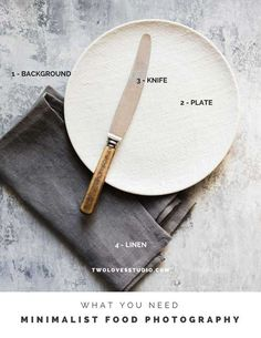 The step-by-step Guide To Creating Minimalist Food Photography. The benefits Food Photography Props, Photography Tips, Photography Tutorials, Photography Lighting, Photography Business, Photography Degree, Photography Contract, Photography Hashtags, Photography Essentials