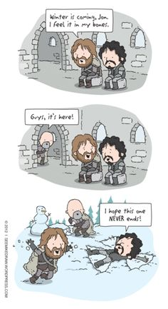 Game of Thrones humour.