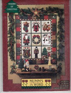 Debbie Mumm Christmas Holiday CHRISTMAS QUILT PATTERN - Mumm's the Word - Visions of Christmas - 31 x 37 inches