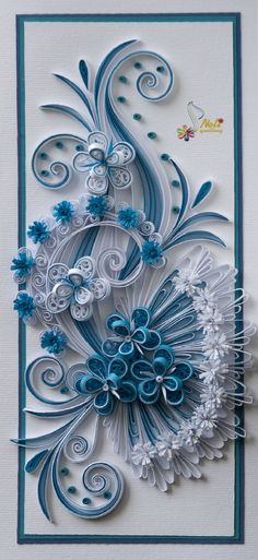 Quilling card - I LOVE Neli's work!!