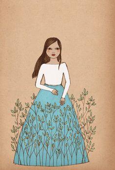 Irena Sophia - Blooming art print of original drawing