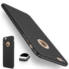 Für iphone 7 plus Fall für Apple iphone 6 6 S Plus 5 Logo Luxus Hybrid Schlank Dünnen Harten Glänzend Schwarz Luxus Abdeckung Zubehör