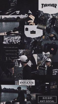 Bts Wallpaper Backgrounds, Black Phone Wallpaper, Mood Wallpaper, Jimin Wallpaper, Tumblr Wallpaper, Galaxy Wallpaper, Wallpaper Quotes, Cute Wallpapers, Black Aesthetic Wallpaper
