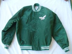 A generous size no less! Vintage Mens Chalk Line NFL Philadelphia Eagles Satin Jacket XXL 2XL | eBay