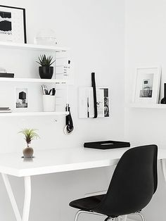 black and white office. scandinavian home office design ideas black and white