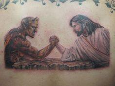 devil vs god drawing - photo #32