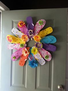 Flip flop wreath first try my version