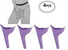 4 Pcs Female Urination Device Travel Camping Outdoor Standing Pee Reusable Urinal Women Funnel Portable Urine Urinary ** For more information, visit image link. Prefab Cabin Kits, Small Prefab Cabins, Pee Standing, Pink Toilet, Female Urinal, Toilet Accessories, Camping Gear, Camping Survival, Survival Gear