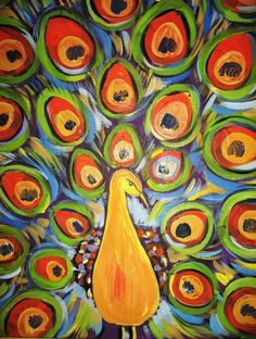 24 Best Peacock Canvas Ideas Images On Pinterest