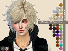 Studio K Creation's Animate hair Reiji 42 - Medium hairstyles ~ Sims 4 Hairs