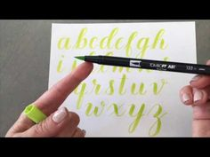 Watch how I draw the alphabet with the Tombow Dual Brush Pen and then add drop shadows with my favourite Tombow Fudenosuke TWIN TIP brush pen. LEARN Brush Le...