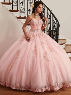 - Strapless sweetheart tulle quinceanera ball gown features pleating details, beaded lace applique, lace-up back, matching bolero, and lace hem skirt with sweep train. Pretty Quinceanera Dresses, Prom Dresses, Wedding Dresses, Quinceanera Party, Quinceanera Centerpieces, Dress Prom, Candy Centerpieces, Strapless Dress, Dressy Dresses