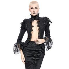 Pin Up-Schiffchen Burlesque Military Anthrazites Gothic Uniform