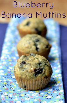 Blueberry Banana Muffins from Real Food Real Deals-use WW flour and add a little more milk or an extra banana so they aren't dry