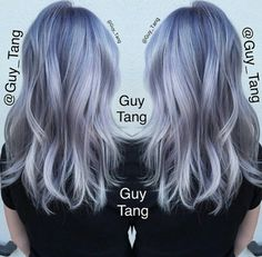 @guy_tang gorgeous blue to grey ombre hair