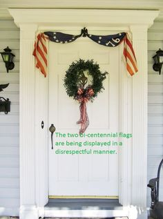 This homeowner needs to read the US Flag Code, and learn how to properly display a US flag.