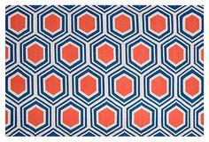 Pandora Flat-Weave Rug, Blue on OneKingsLane.com