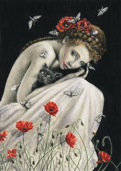 MyDoodle aka Anna Rogowska (Poland) - Poppies, 2012  Drawings: Pencils, Promarkers