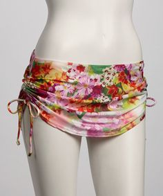 Take a look at this Warm Bohemian Blooms Skirted Bikini Bottom by Jantzen on #zulily today! $27.99, regular 68.00.  Sale ends in 1 days, 16 hours; or, in other words on Saturday, June  8th in the afternoon. So if you're interested, get on it! :)