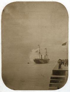 Jean Victor Warnod - Steamship Leaving Le Havre, 1860