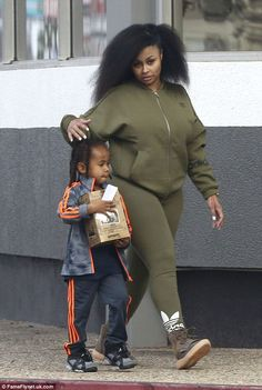 Look cool in khaki leggings like Blac Chyna's  Click 'visit' to buy it now   #DailyMail