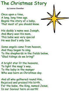 Cute poem idea for the Sunday School Christmas Program ...