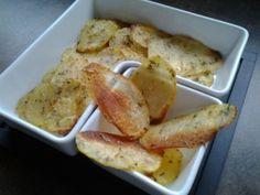 Croustilles de pommes de terre cuites au four