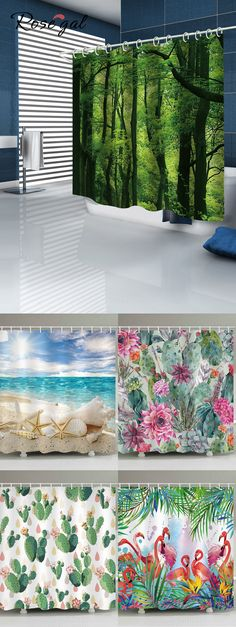 New Bath Room Beach Shower Curtain Products Ideas Beach Shower Curtains, Christmas Shower Curtains, Cheap Shower Curtains, Living Room Decor, Bedroom Decor, Bedroom Ideas, Home Curtains, Shower Remodel, My New Room