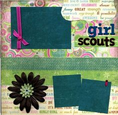 Premade Scrapbook Page - Girl Scouts
