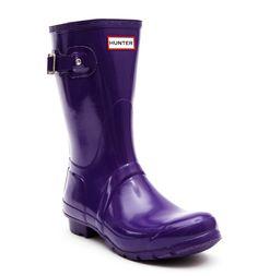 Hunter Wellies - Original Short Gloss - Sovereign Purple at Cloggs £68.99