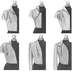 Couture dart laying of the M.Müller & Sohn - Best of PIC Bodice Pattern, Jacket Pattern, Moda Fashion, Fashion Sewing, Dress Sewing Patterns, Clothing Patterns, Fashion Design Inspiration, Diy Inspiration, Fashion Pattern