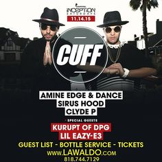 #ExchangeLA 11/14 #AmineEdgeandDANCE #SirusHood #ClydeP Live Act - #Kurupt from #DPG  TIX GIVEAWAY (Link in IG Bio) Ladies Ive got you covered! Discount Guest List Available Hard Copy Tickets Available Purchase tickets at www.LAWaldo.com (Link in IG Bio)  2 for $600 Bottle Specials Available.  For Bottle Service Call / Text 818-744-7129 www.LAWaldo.com  #InsomniacEvents #LAWaldo #EXLA #InceptionSaturdays by la_waldo