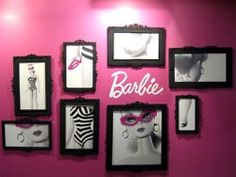 LOVE this. I always imagine having a #Barbie room... Great black & white photography with pink accents!! Pics of beth instead!!