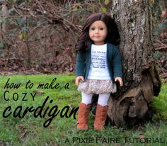 doll sized cardigan sweater diy tutorial free pixie faire online sewing how to make a cardigan for 18 inch dolls