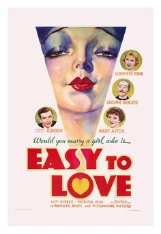Easy to Love (1933) - US One Sheet