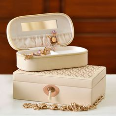 Delicate fretwork and study faux leather, feminine and useful, contemporary and imperial, an eye-catcher and a storage accessory. Get the best of all the worlds in our well coordinated vallet and jewellery boxes. #SHOPNOW at www.elvy.com .