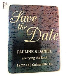 Save The Date Magnet, Save The Date Calendar, Metal, Copper, Wedding Magnet, Unique Save the Date, postcard, template, sign, custom, wedding - Wedding party invitations (*Amazon Partner-Link)