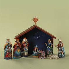 I already have a beautiful manager made by hubby's grandfather, now I would just love the Jim Shore nativity set to make it complete!!! =)