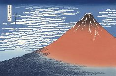 Katsushika Hokusai (Japanese Ukiyo-e Printmaker, ca. 1760 - 1849) / Red Fuji (Gaifu Kaisei), from Thirty-six Views of Mount Fuji