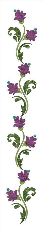 Urban Elementz: Blossoms Panel #2 - Spring - Applique