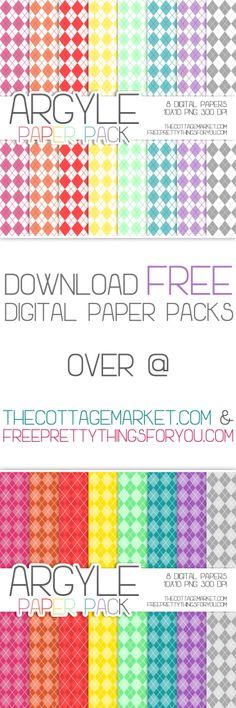 Free Argyle Digital Scrapbooking Paper Part 2
