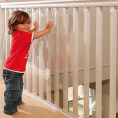 KidKusion Kid Safe Banister Guard Clear 33 Inch X 5 FT for sale online
