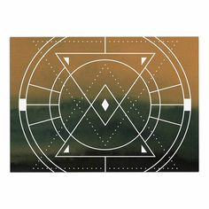 KESS InHouse Matt Eklund 'Lost City' Tan Geometric Dog Place Mat, 13' x 18' >>> Find out more details by clicking the image (This is an amazon affiliate link. I may earn commission from it)