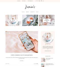 Jasmine WordPress Theme | My Boutique Themes  WordPress Themes | Lifestyle Blog Theme | Fashion Blogger | GirlBoss   Blog Design | Feminine WordPress Theme | Pink WordPress Theme for Beauty   Bloggers #WordPressTheme #BlogDesignInspo #BlogDesign
