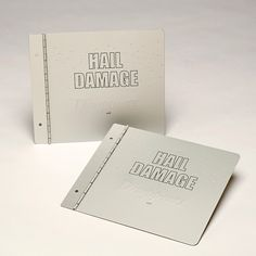 Dent Wizard Hail Damage custom metal two piece cover sets with aluminum screw post binding by Sneller. snellercreative.com. #snellercreative #custommetalcoversets #customaluminumproducts #screwpostcovetsets #custommarketingmaterials